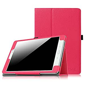 Fintie Samsung Galaxy Tab A 9.7 Folio Case - Slim Fit Premium Vegan Leather Cover for Samsung Tab A 9.7-Inch Tablet SM-T550 (with Auto Sleep/Wake Feature), Magenta, [Importado de UK]