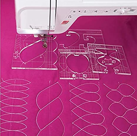 VNHOME - Juego de 4 reglas para máquina de coser, para máquina de ...