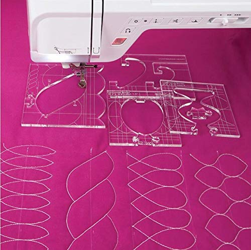 Quilting Tools Sewing Machine Ruler Template Patchword Ruler, 1 Set = 4Pcs New Ruler Border Sampler Template Set for Sewing Machine Can Create Beautiful Borders by VNHOME