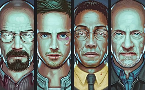 - TST INNOPRINT CO Breaking Bad Characters Walter White Silk Poster 36x24 Inches
