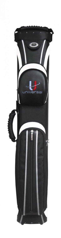Köcher Universal 3/5 schwarz/weiß Billard Queue Tasche