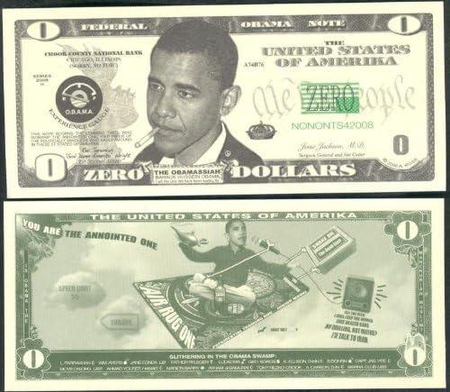 """Amazon.com: Barack Obama """"The Obamassiah"""" Zero Dollar Novelty Bill  Collectible: Everything Else"""
