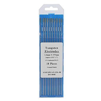 Electrodos de soldadura, 10pcs WL15 Lanthanum Tungsten TIG ...