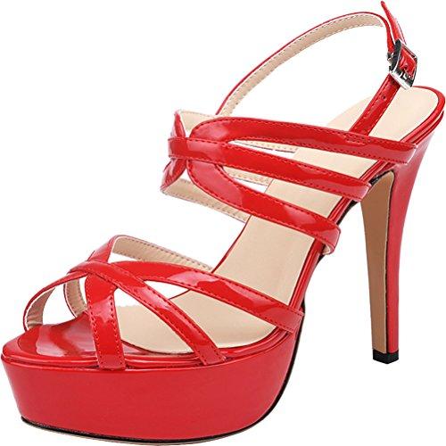 Comfort Sposa Open 1045 Inox Donna In Pu Lavoro Da Ol Rosso Salabobo Sandalo Acciaio Toe CwATYxq0