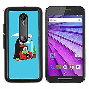 """Be-Star Único Patrón Plástico Duro Fundas Cover Cubre Hard Case Cover Para Motorola Moto G (3rd gen) / G3 ( Adivina quién cotización Muerte Parodia Humor Arte"""" )"""