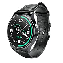 Aicarey New GW01 Bluetooth Smartwatch Ips Round Screen Smartwatch Life for Apple Ios Huawei Android Waterproof Sports Phone