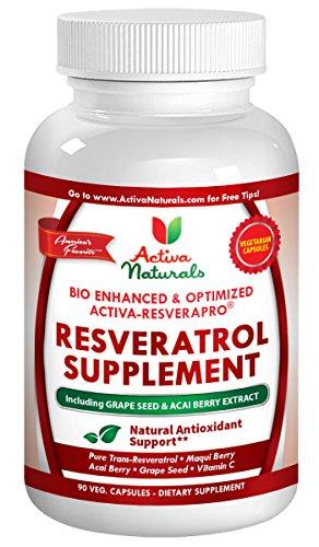 Activa Naturals Resveratrol Supplement Trans Resveratrol