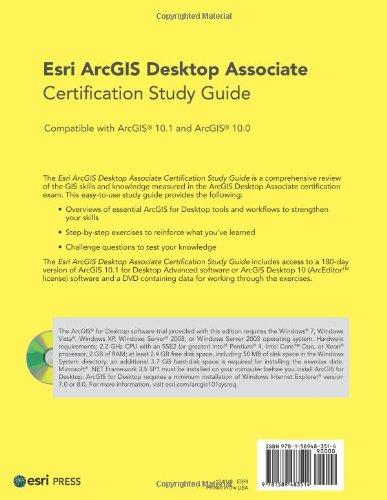 buy esri arcgis desktop associate certification study guide book rh amazon in Esri Technical Certification GIS Training