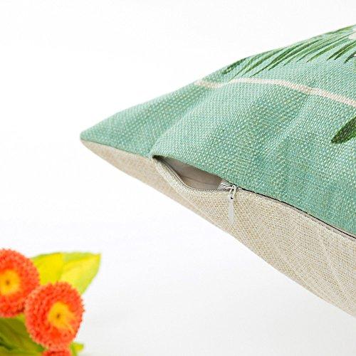 (huoaoqiyegu Flowers Grass Pattern Throw Pillowcase Sofa Waist Cushion Cover Home Decor)