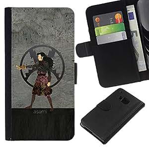 NEECELL GIFT forCITY // Billetera de cuero Caso Cubierta de protección Carcasa / Leather Wallet Case for HTC One M9 // Asami