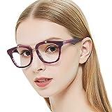 OCCI CHIARI Womens Aviator Fashion Non-prescription Eyeglasses Frame 52mm (Incarnadine)