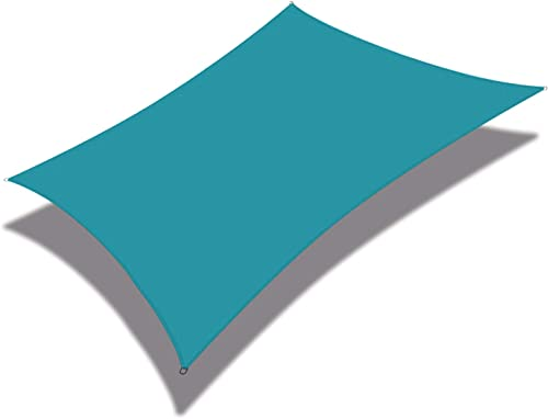 Coarbor 10' x 13' Rectangle Light Green Waterproof Sun Shade Sail Perfect