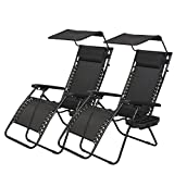 PayLessHere Zero Gravity Chairs 2 Set Lounge Patio Chairs with canopy Cup Holder Review