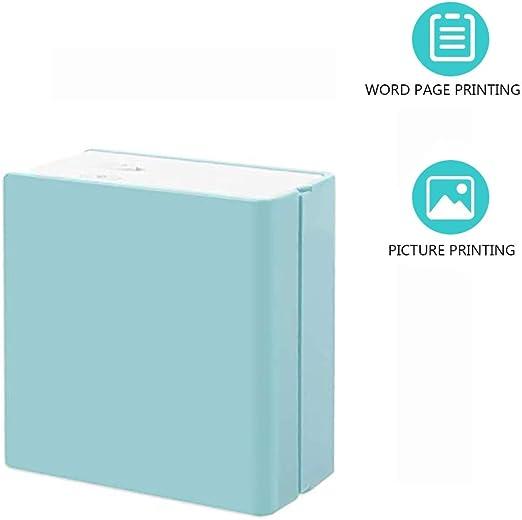 LHR Mini Impresora para Smartphone, Impresora Fotográfica De Conexión Bluetooth Portátil Liviana Impresora Fotográfica Registro De Etiqueta De Cuenta De Mano De Impresión,Azul: Amazon.es: Hogar