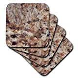 3dRose CST_97963_2 Santa Cecilia Granite Print-Soft Coasters, Set of 8