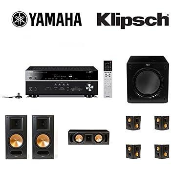 Yamaha RX V683 AV Receiver Bundled With 1 Pair Klipsch RB 81 II Bookshelf Speakers RC 52 Center Speaker 2 Pairs RS 42