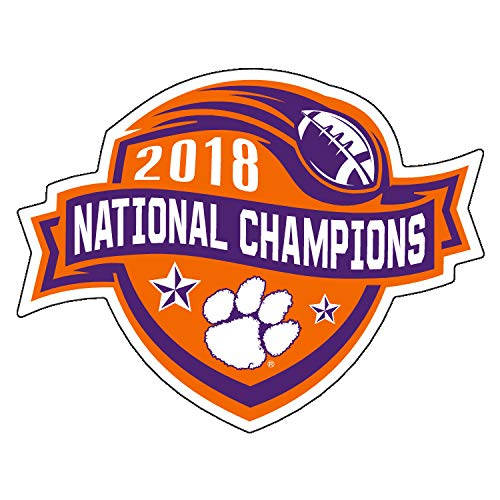 Clemson 2018 National Champions Durable Decals