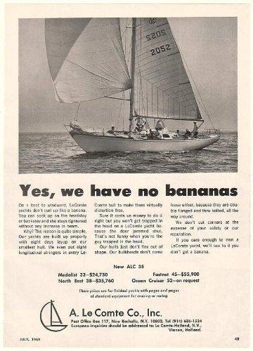 cdf0a83252e 1969 A Le Comte ALC 35 Yacht Boat Photo Print Ad (50899): Amazon.co.uk:  Kitchen & Home