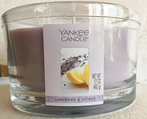 Yankee Candle 17 oz 3-Wick LAVENDER & CITRUS Housewarmer Dish Candle -