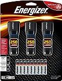 Energizer Metal LED AAA Flashlight 3pk, Vision HD Performance Light, 250 Lumens (Batteries Included)