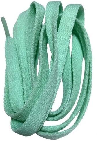 TMYQM ワイドスニーカースポーツシューズフラット靴ひも靴ひもの8ミリメートル24色80センチメートル/ 100センチメートル/ 120センチメートル/ 140センチメートル/ 160センチメートル (Color : No 15light turquoise, Size : 80cm)
