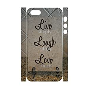 Personalized New Print Case for Iphone 5,5S 3D, Live, love, laugh Phone Case - HL-508245