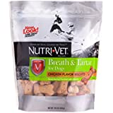 Nutri-Vet Breath And Tartar Chicken Flavored Biscuits, 19.5 Ounce Bag