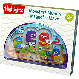 HABA Highlights Monster Munch Maze - Silly Magnetic Learning Fun for Ages 2+