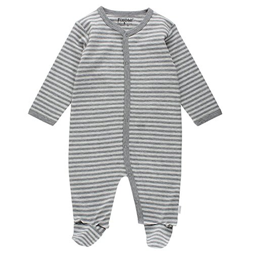 Fixoni Schlafanzug Einteilig, Pelele para Dormir Unisex Bebé Gris (Light Grey Melange) 6 Mes UTOFT KIDS GROUP A/S 32828