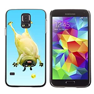 Licase Hard Protective Case Skin Cover for Samsung Galaxy S5 - Funny Pug & Tennisball