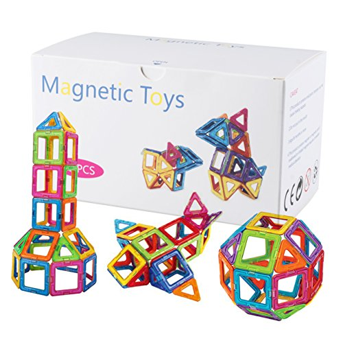 Magnetic Building Blocks Educational Tiles or Toys for Toddlers Kids- 38 Pcs & Storage Box Included
