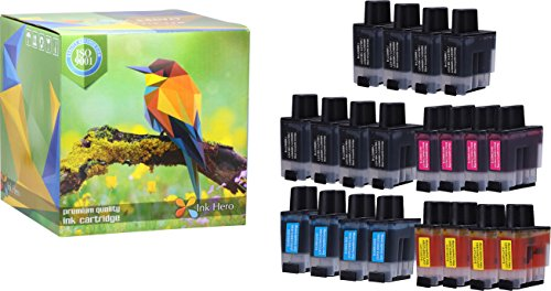 Inkjet 1840c (Ink Hero 20 Pack Ink Cartridges for Brother LC-41 DCP 110C 115C 120C 314CN Intellifax 1840C 1940CN 2440C MFC 210C 215C 3240C 3340CN 420CN 425CN 5440CN 5840CN 620CN 640CW 820CW)