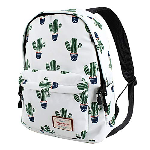 (Van Caro Unisex Waterproof Large School Backpack Cactus Travel Rucksack)