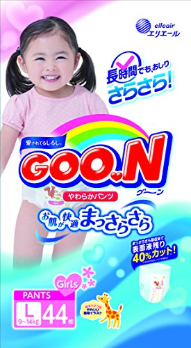 Elleair | Diapers | GOO.N Soft Fit Pants L-size for Girl 44 sheets [ Japanese Import - Pants Diaper
