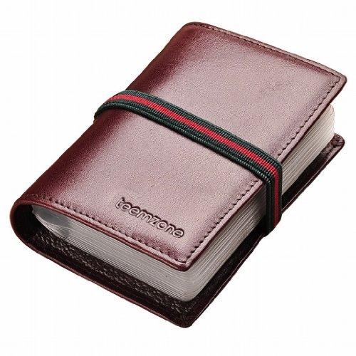 Teemzone Genuine Leather Business Credit Card Case Holder Organizer