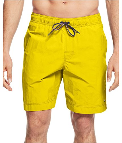Tommy Hilfiger Mens The Tommy Trunk Swim Bottom Trunks blazingyellow 2XLT