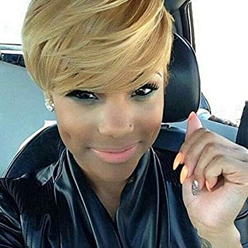 Amazon Com Naseily Short Blond Haircuts Synthetic Short Hair Wigs For Black Women Natural Short Hairstyles For Women 911blonde Beauty