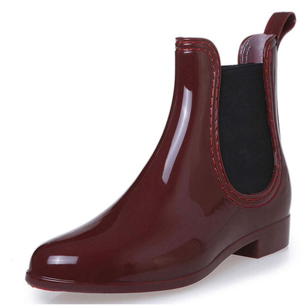 Pastaza Botas de Agua Mujer Botas de Lluvia Casual Impermeable Caucho Zapatos