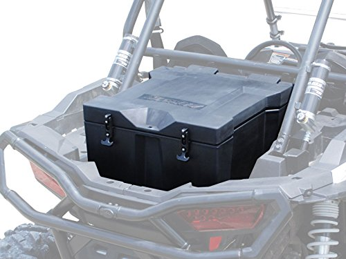 Rack Cooler Rear (SuperATV Heavy Duty Insulated Rear Cooler/Cargo Box for Polaris RZR 1000/1000 4/XP Turbo/Turbo S (2014+) - Storage for Trail Gear - Quick and Easy Install)