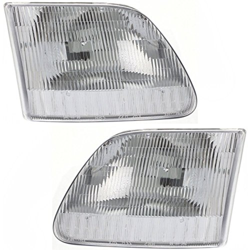 Headlight Set Of 2 For F-Series 97-03 Right and Left Side Assy Halogen