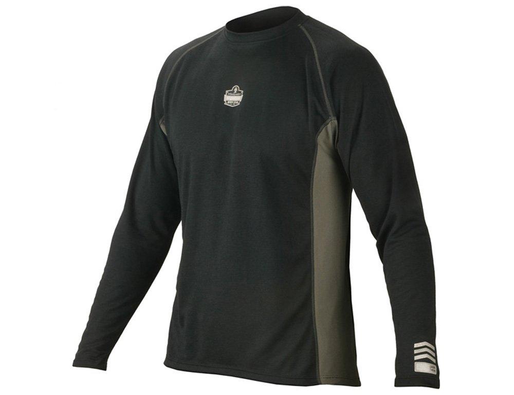 Black 3X-Large Ergodyne CORE Performance Work Wear 6425 Long Sleeve Shirt