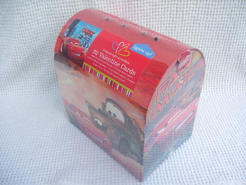 Cars Keepsake Light-Up Mailbox 32 Valentine Cards