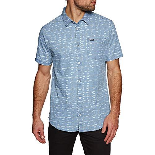 (RVCA Nakama Dot Short Sleeve Shirt X Large Denim)