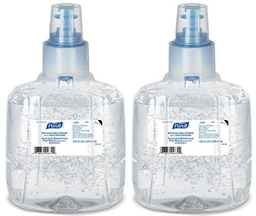 Green Refill - Purell WESDC 1903-02 LTX Refill Advanced Green Certified Hand Sanitizer, 1200 ml, 2 Refill, 2 Pack