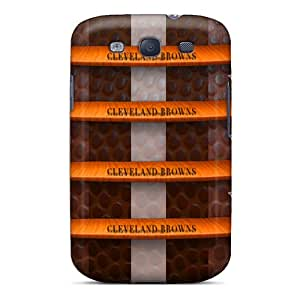 Samsung Galaxy S3 AjO2010HOgq Support Personal Customs Stylish Cleveland Browns Pattern Anti-Scratch Hard Phone Cases -DrawsBriscoe