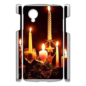Custom Candles Case Cover , Creative Designed For Google Nexus 5
