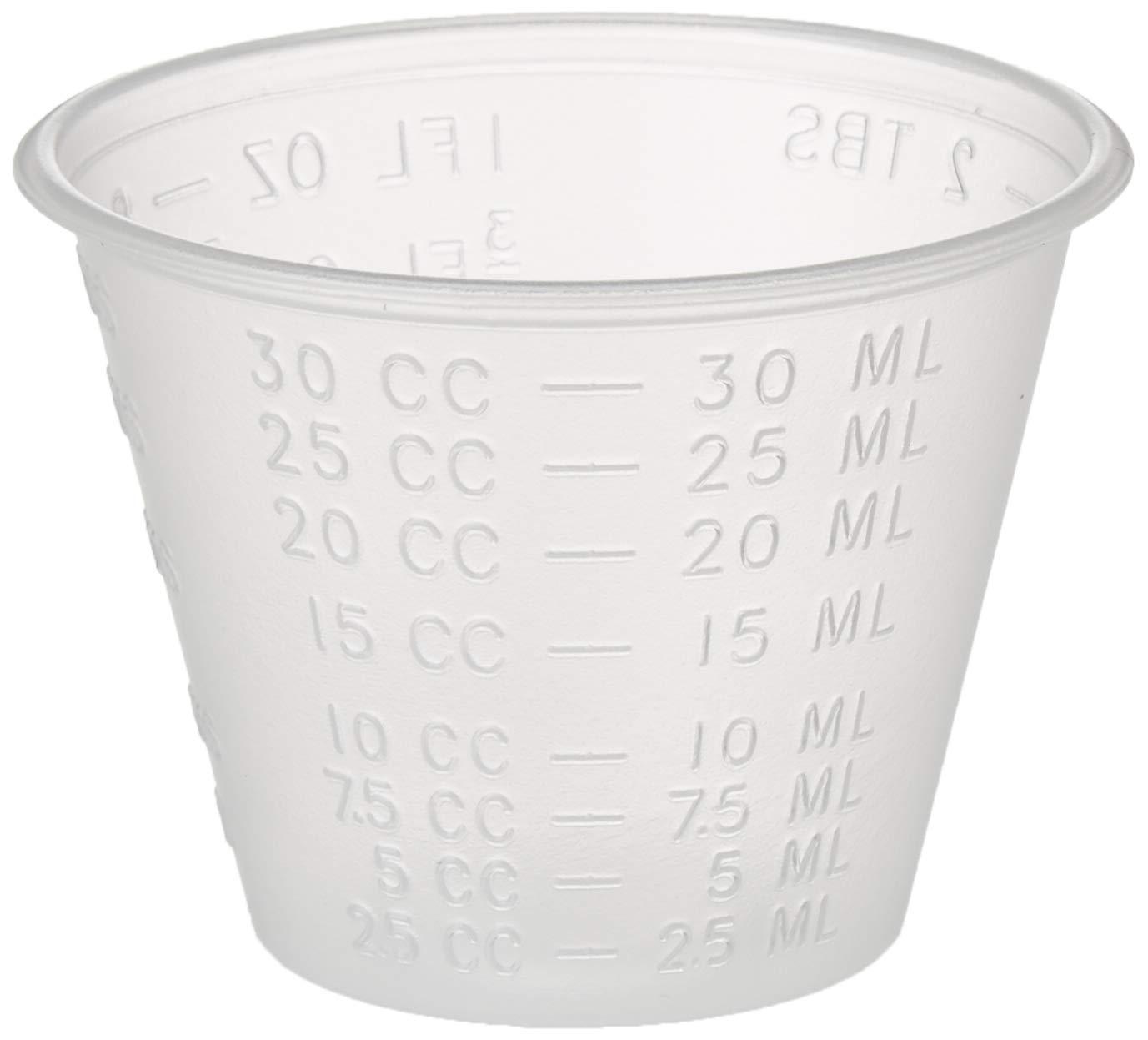 Dynarex 4258 Medicine Cup (Polyethylene), 100 Count, 1 Sleeve, Clear: Industrial & Scientific