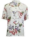 Two Palms Mens Aloha Orchid Rayon Shirt White 4X