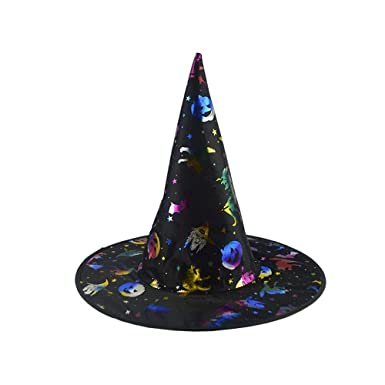 7be2cc7e475 aliveGOT Adult Womens Halloween Costume Accessory Witch Hat Cap (Black) at  Amazon Women s Clothing store