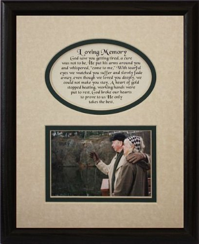 Amazon.com - 8x10 LOVING MEMORY Picture & Poetry Photo Gift Frame ...